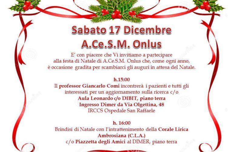 Festa di Natale A.Ce.S.M. Onlus