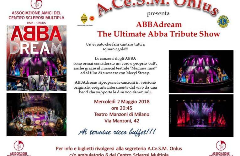 2 Maggio 2018 Teatro Manzoni di Milano: una serata per ACeSM Onlus