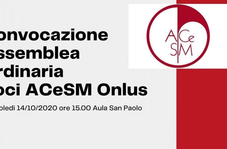 Assemblea Ordinaria Soci A.Ce.S.M. Onlus